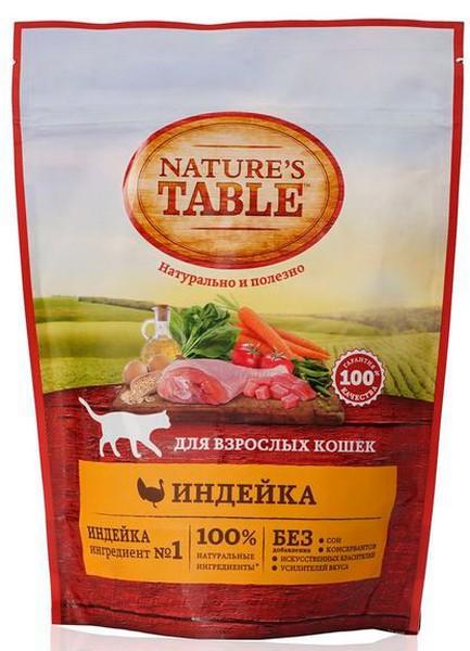 Natures Table / Сухой корм Нейчерс Тейбл для взрослых кошек Индейка