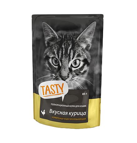 Tasty / Паучи Тейсти для кошек Вкусная Курица в желе (цена за упаковку)