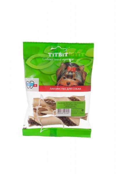 Titbit Dental+ Лакомый кусочек / Лакомство Титбит для собак Палочки Витые с начинкой для Чистки зубов