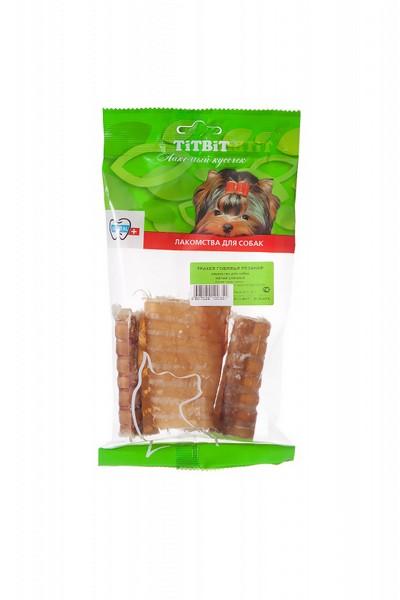Titbit Dental+ Лакомый кусочек / Лакомство Титбит для собак Трахея Говяжья резаная для Чистки зубов