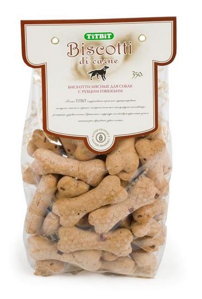 Titbit Biscotti / Мясное печенье Титбит для собак с Рубцом говяжьим для Дрессуры и поощрения
