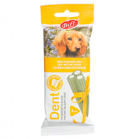 Titbit Biff Dent / Лакомство Титбит для собак Средних пород Жевательный снек со вкусом Кролика