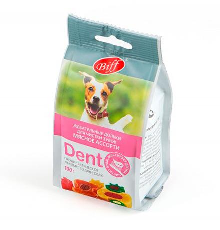 Titbit Biff Dent / Лакомство Титбит для собак Жевательные дольки Мясное Ассорти