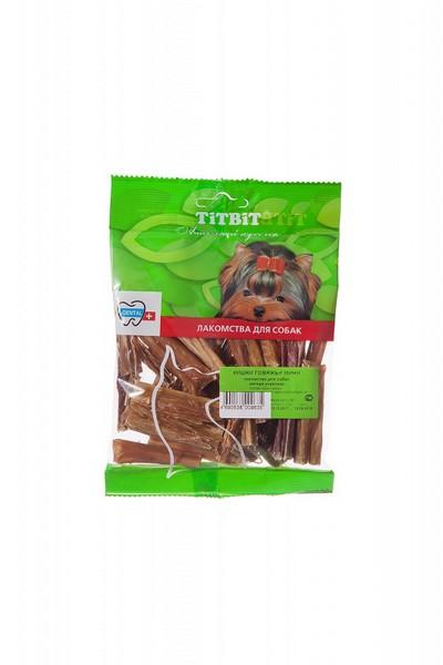 Titbit Dental+ Лакомый кусочек / Лакомство Титбит для собак Кишки Говяжьи Мини для Чистки зубов и дрессуры