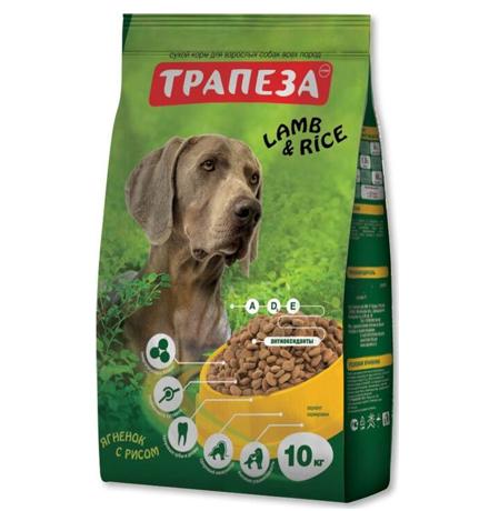 Трапеза Lamb & Rice / Сухой корм для взрослых собак с Чувствительным пищеварением Ягненок и рис