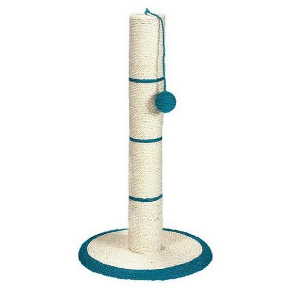 Trixie / Когтеточка-столб для кошек Трикси с Игрушкой на веревочке Сизаль (цвета в ассортименте)