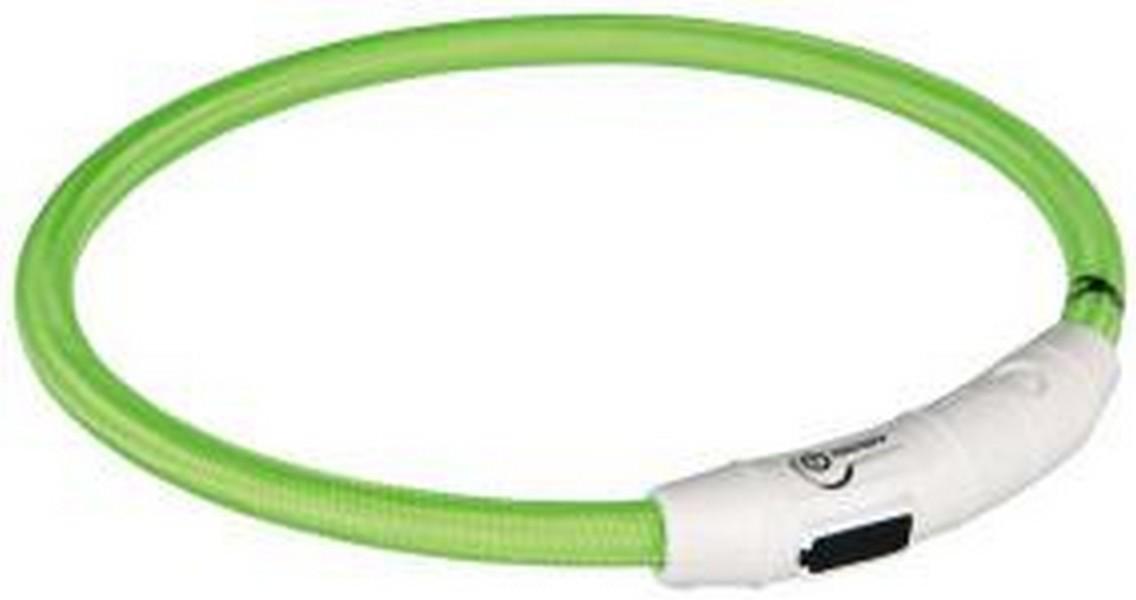 Trixie USB ошейник для собак Мигающий Зеленый