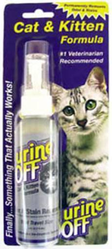 Urine Off Cat & Kitten Odor and Stain Remover / Средство Юрин Офф для уничтожения пятен и запахов от Кошек и Котят Спрей в блистере