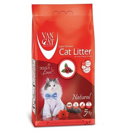 Van Cat Natural / Комкующийся наполнитель Ван Кэт для кошачьих туалетов 100 % натуральный Без пыли