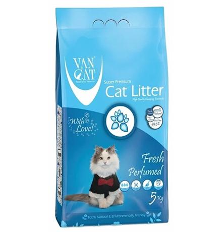 Van Cat Fresh / Комкующийся наполнитель Ван Кэт для кошачьих туалетов Без пыли с ароматом Весенней свежести