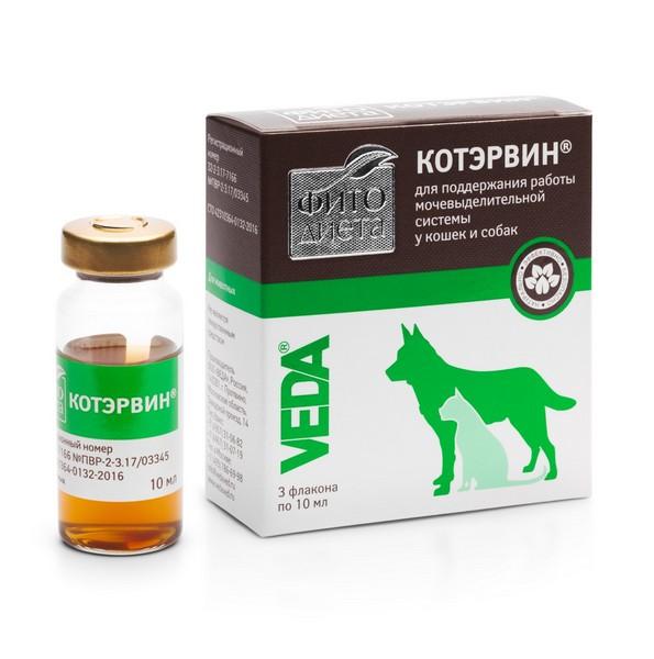 Veda Фитодиета Котэрвин / Кормовая добавка Веда для собак и кошек Поддержание мочевыделительной системы