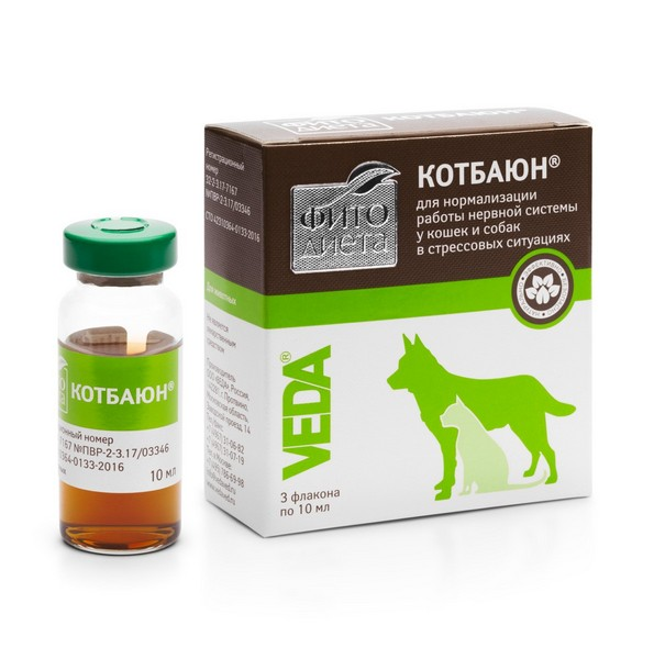 Veda Фитодиета Котбаюн / Кормовая добавка Веда для собак и кошек Нормализация нервной системы в стрессовых ситуациях
