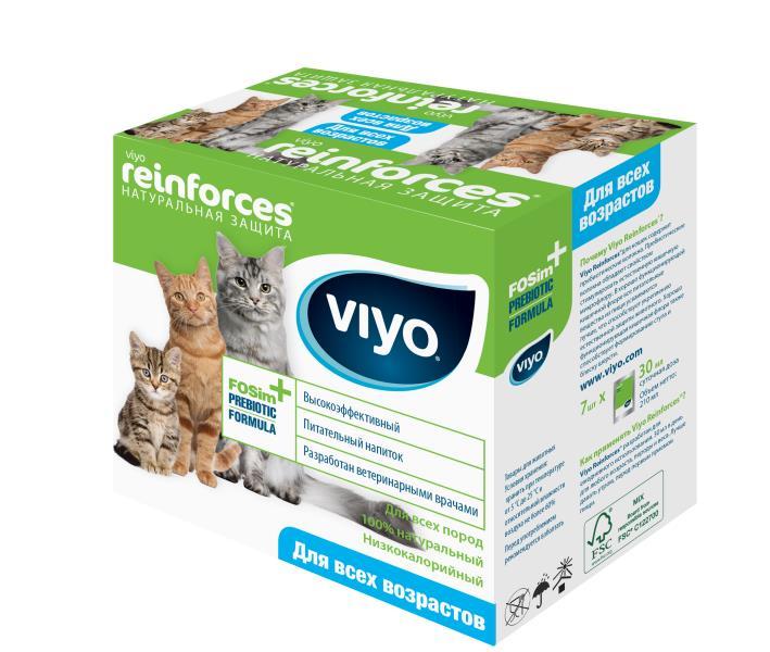 VIYO Reinforces Cat All Ages / Пребиотический напиток Вийо для кошек всех возрастов