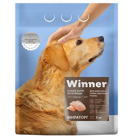 Winner Adult / Сухой корм Винер для взрослых собак Крупных пород Курица