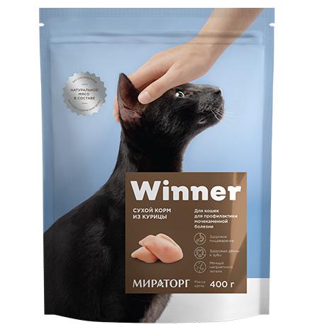 Winner Adult / Сухой корм Винер для взрослых кошек с Мочекаменной болезнью Курица