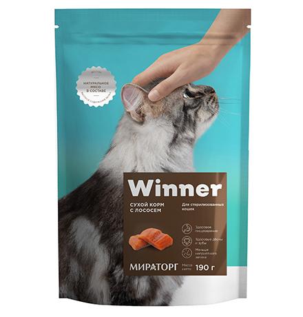 Winner Adult / Сухой корм Винер для Стерилизованных кошек Лосось