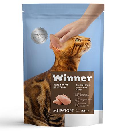 Winner Adult / Сухой корм Винер для взрослых кошек всех пород Курица