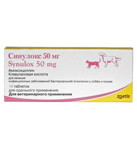 Zoetis Synulox / Таблетки Синулокс для собак и кошек