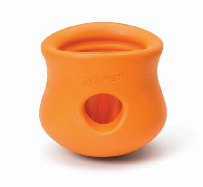 West Paw Zogoflex Toppl / Игрушка Вест По Зогофлекс для собак под Лакомства Оранжевая
