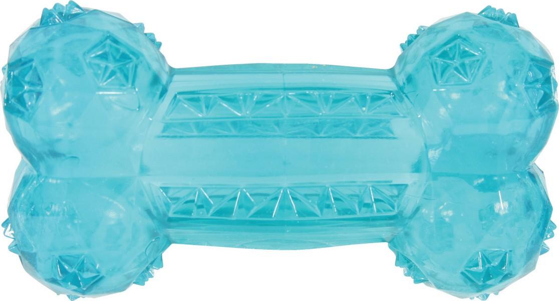 Zolux / Игрушка Золюкс для собак Кость Термопластичная резина Бирюзовая