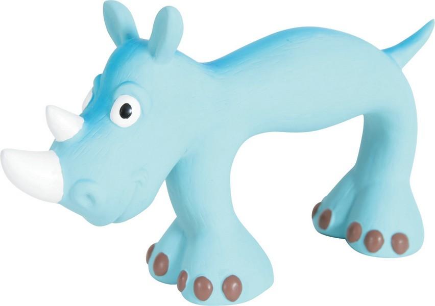 Zolux / Игрушка Золюкс для собак Носорог Голубой Латекс