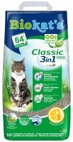 Biokats Classic 3in1 Fresh / Комкующийся наполнитель Биокэтс для кошачьего туалета Свежесть