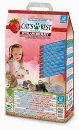 Cats Best Universal Strawberry / Наполнитель для кошачьего туалета Кэтс Бест Юниверсал Древесный впитывающий Клубника