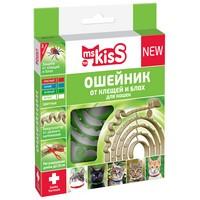 ms KisS / Ошейник Мисс Кисс для кошек Репеллентный От Клещей и Блох 38 см