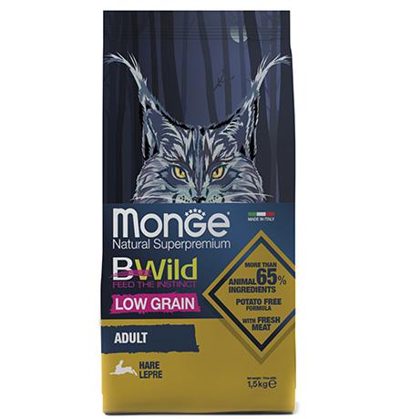 Monge Cat BWild Adult Hare / Сухой корм Монж Бивайлд для Взрослых кошек мясо Зайца