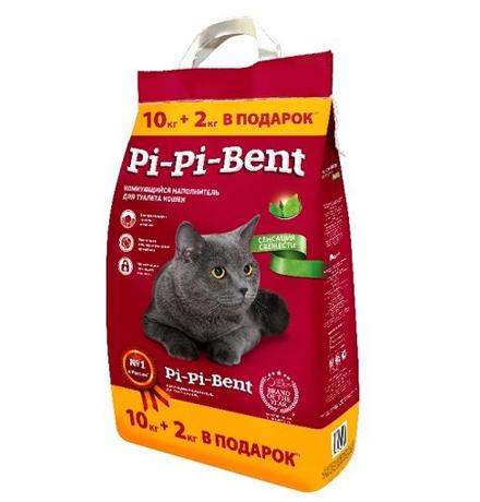 Pi-Pi-Bent Classic / Наполнитель для кошачьего туалета ПиПиБент Классик Комкующийся